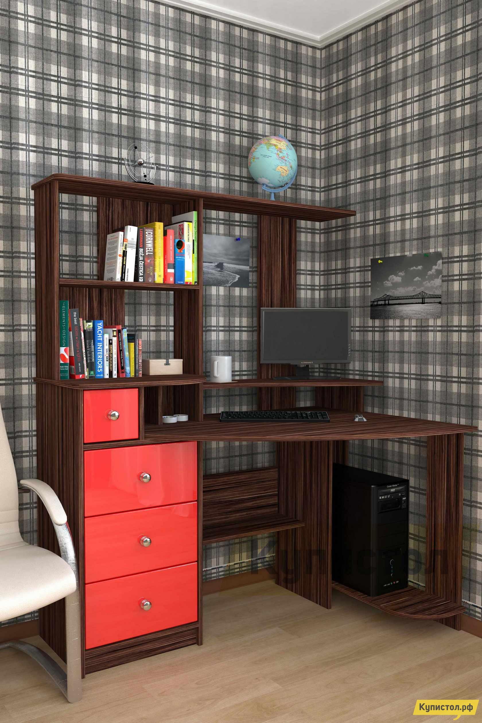 Угловой компьютерный стол Мебелеф Компьютерный стол «Мебелеф-6» компьютерный стол кс 20 30