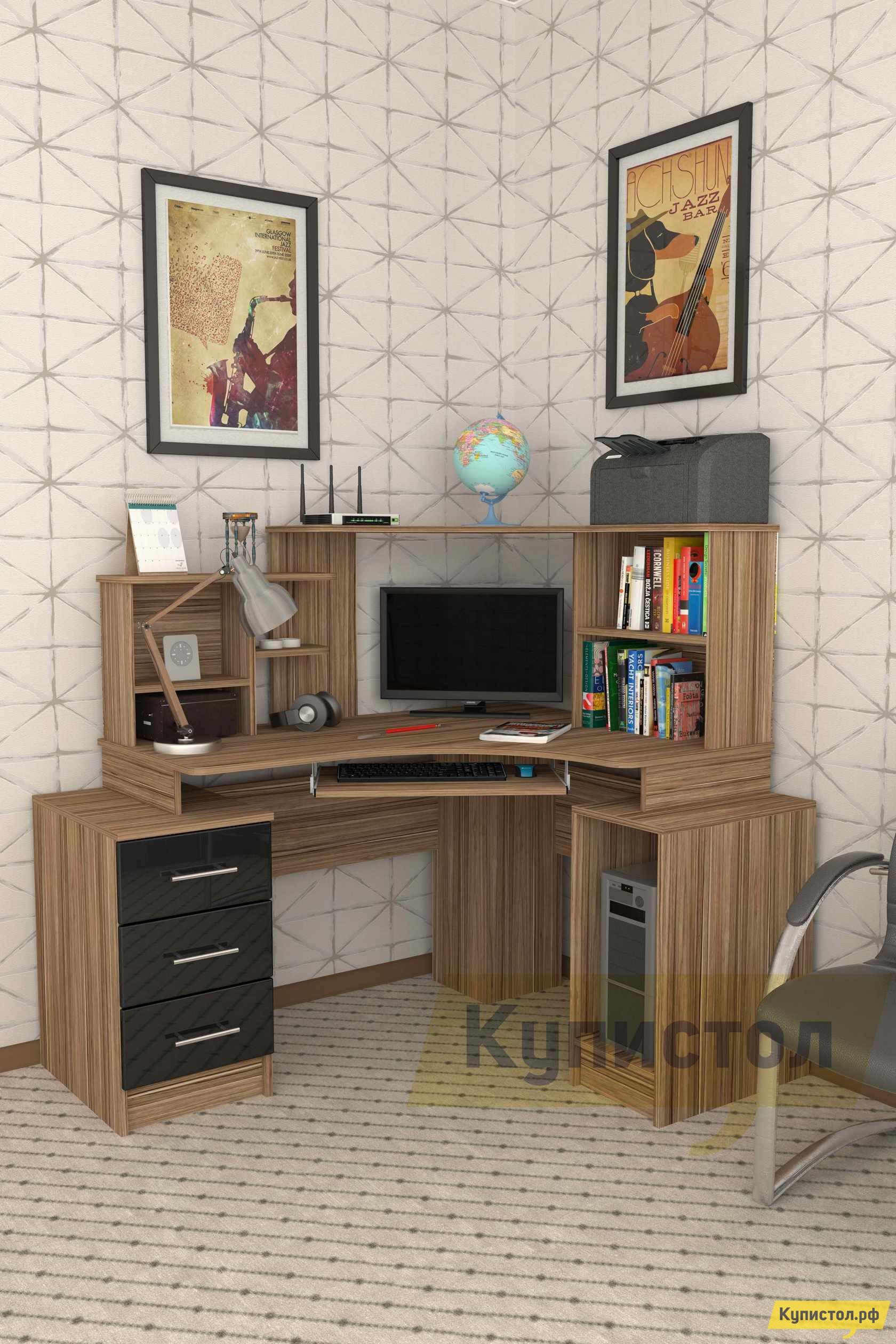 Угловой компьютерный стол Мебелеф Компьютерный стол «Мебелеф-40»