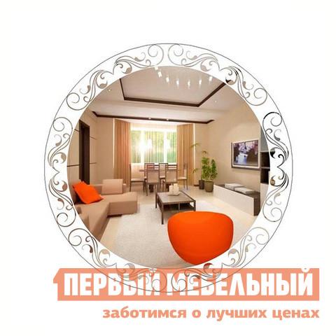 Настенное зеркало ZerkaloStudio Мистерия 80 Х 80 см, Белый