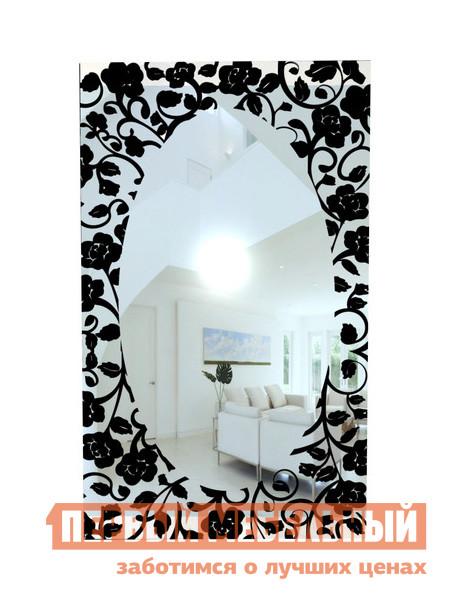 Настенное зеркало ZerkaloStudio Черные розы 60 Х 100 см, Черный