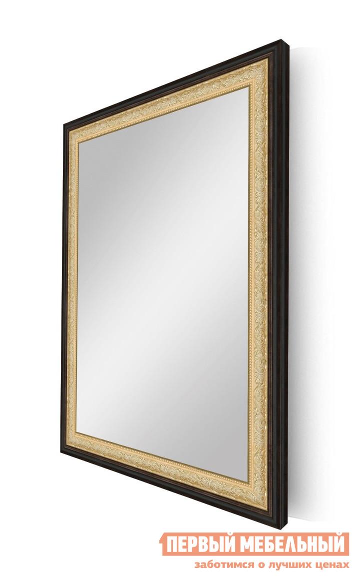 """Купить со скидкой Настенное зеркало ZerkaloStudio """"Золотой Модерн"""" (583.M53.186np) 60 Х 90 см, Черный с золотом"""