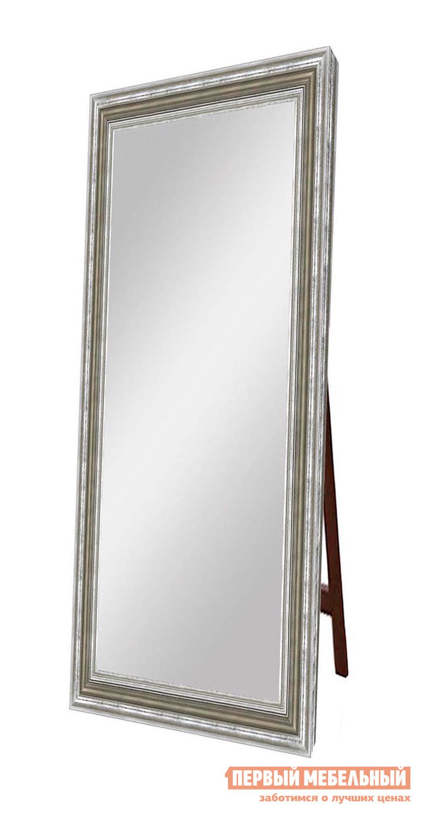 Напольное зеркало ZerkaloStudio Верона (711.OAC.025np) 70 Х 170 см, СеребрянныйНапольные зеркала<br>Габаритные размеры ВхШхГ 1600 / 1900x600 / 900x46 мм. Это большое напольное зеркало привлекает внимание своим сдержанным и лаконичным обрамлением.  Зеркальное полотно гармонирует с рамой, выполненной в многоуровневом формате с элементами старения и ненавязчивого патинирования.  Изысканный и стильный вариант для меблировки спальни, прихожей или гостиной, оформленной как в классическом, так и современном интерьере. Ширина рамы — 82 мм. Толщина рамы — 46 мм. Обратите внимание! Для оформления заказа необходимо выбрать нужный размер зеркала. Рама изготавливается из пластика.  Зеркало поставляется в собранном виде.  Опорная ножка крепится к зеркалу при помощи петли с ограничительной цепочкой.<br><br>Цвет: Серебрянный<br>Цвет: Бежевый<br>Цвет: Светлое дерево<br>Высота мм: 1600 / 1900<br>Ширина мм: 600 / 900<br>Глубина мм: 46<br>Кол-во упаковок: 1<br>Форма поставки: В собранном виде<br>Срок гарантии: 24 месяца<br>Тип: Простые<br>Назначение: Для спальни, В прихожую<br>Материал: Пластиковые<br>Форма: Прямоугольные<br>Особенности: В полный рост, На подставке<br>Тип рамы: В раме, В багете