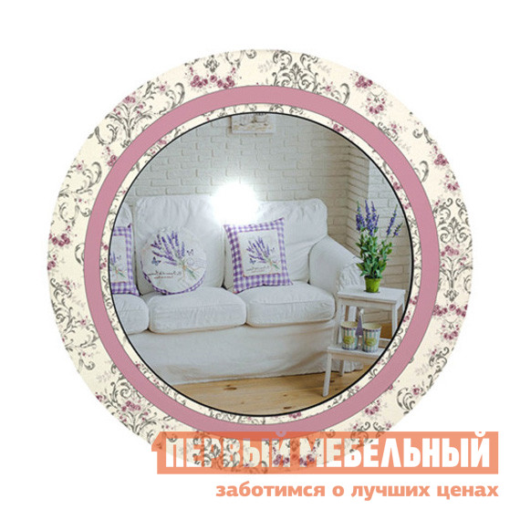 Настенное зеркало ZerkaloStudio Винтажные цветы 60 Х 60 см, Бежево-розовыйНастенные зеркала<br>Габаритные размеры ВхШхГ 600 / 800x600 / 800x мм. Круглое зеркало с нежным винтажным рисунком по рамке.  Модель может не только выполнять свою прямую задачу — создавать прекрасные отражения, но и быть стильным элементом декора практически в любом интерьере.  Изящное дополнение в детскую комнату для девочки, в спальню, в гостиную или в ванную комнату.  Рамка выполняется из пластика и устойчива к воздействию воды и пара. Фурнитура для навешивания входит в комплект зеркала. Обратите внимание! Для оформления заказа необходимо выбрать нужный размер зеркала.<br><br>Цвет: Розовый<br>Цвет: Бежевый<br>Высота мм: 600 / 800<br>Ширина мм: 600 / 800<br>Кол-во упаковок: 1<br>Форма поставки: В разобранном виде<br>Срок гарантии: 24 месяца<br>Тип: Простые<br>Тип: Декоративные<br>Назначение: Для спальни<br>Назначение: В прихожую<br>Назначение: Для ванной<br>Материал: Пластик<br>Форма: Круглые<br>Подсветка: Без подсветки<br>Тип рамы: В раме<br>Тип рамы: Рама с рисунком