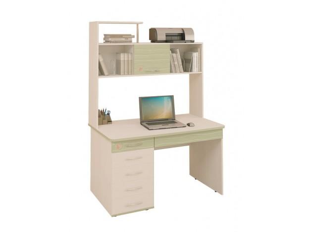 компьютерный стол детский акварель 5314 надстройка 5318 купить в
