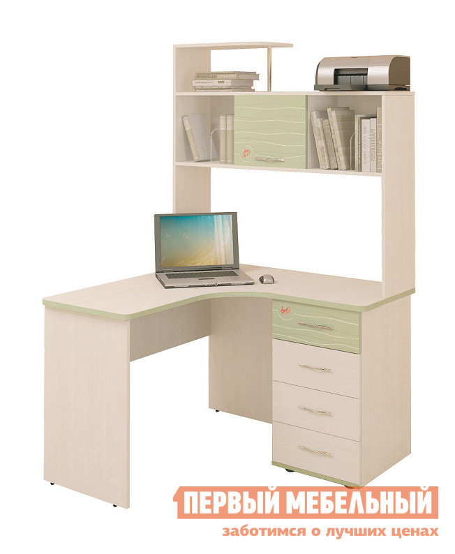 Компьютерный стол детский Витра Акварель-53.13 + Надстройка-53.18 письменный стол детский витра акварель 53 13
