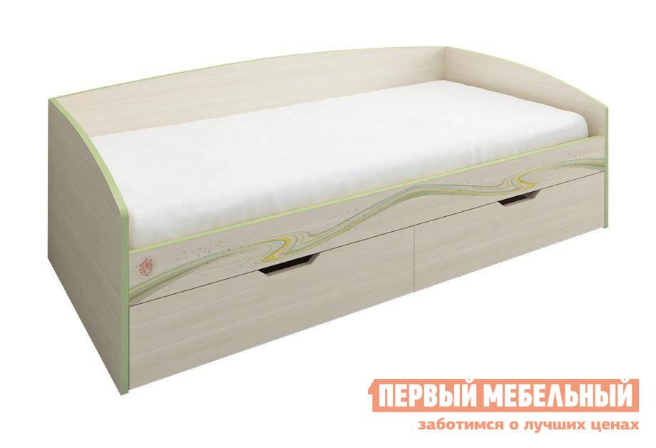 Кровать Витра Акварель-53.11 Дуб Кобург / Едера глянец, Без матраса от Купистол