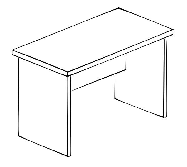 Письменный стол Витра 61(62).19 стол с ящиками витра 19 71