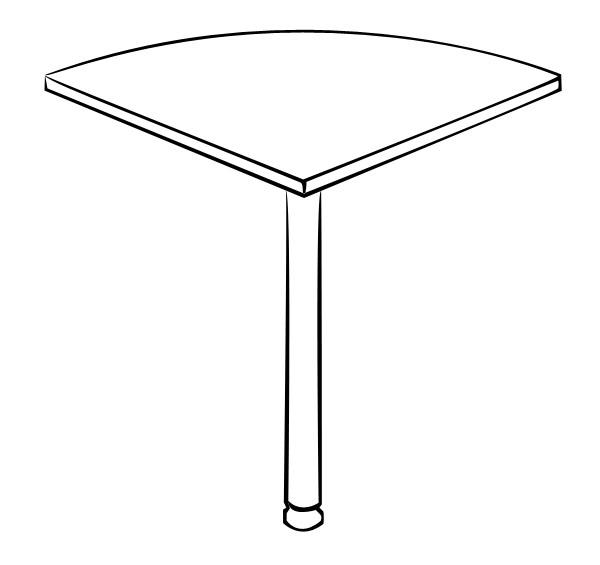 Стол-приставка Витра 41(42).13 стол для переговоров витра 41 42 54