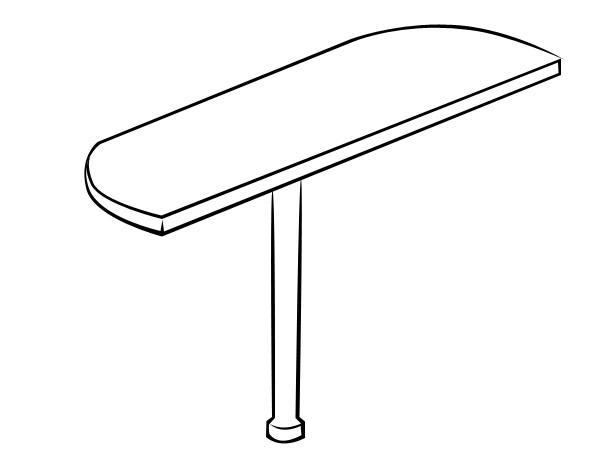 Стол-приставка Витра 41(42).16 стол для переговоров витра 41 42 54
