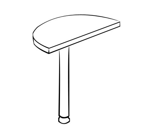 Стол-приставка Витра 41(42).14 стол для переговоров витра 41 42 54