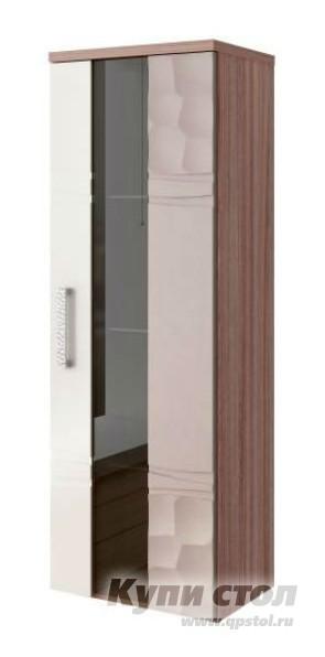 Шкаф-витрина Витра 33.04 шкаф-витрина малый универсальный Ясень шимо темный / Магнолия глянец / Капучино глянец Витра Габаритные размеры ВхШхГ 1200x400x330 мм. Подвесной шкаф-витрина с тремя полочками.  Дверца снабжена доводчиками для плавного закрывания.  Шкаф прекрасно подойдет для составления индивидуального интерьера вашей гостиной. <br>Двери оборудованы доводчиками для плавного закрывания дверей.  Ножки шкафа регулируются по высоте. <br>В производстве используется ЛДСП толщиной 22 мм и 16 мм; МДФ 18 мм и 16 мм, детали обработаны кантом ПВХ 2 мм и 0. 4 мм. <br>Обратите внимание! </br>Для получения гарантийного обслуживания мебели фабрики «Витра» необходимо обязательно сохранять гарантийный талон и сборочный чертеж до окончания гарантийного срока на приобретенную мебель (срок указан в гарантийном талоне). <br>