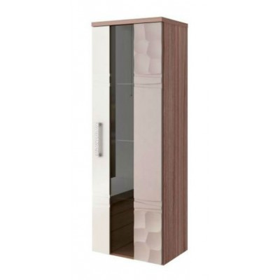 Шкаф-витрина Витра 33.04 шкаф-витрина малый универсальный Ясень шимо темный / Магнолия глянец / Капучино глянец