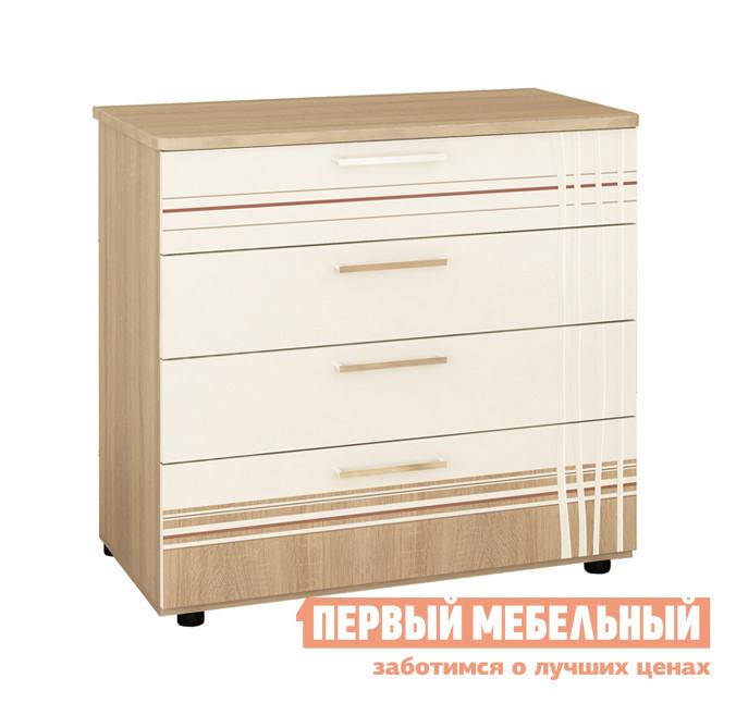 Комод Витра 54.08 Дуб Сонома / Магнолия Глянец