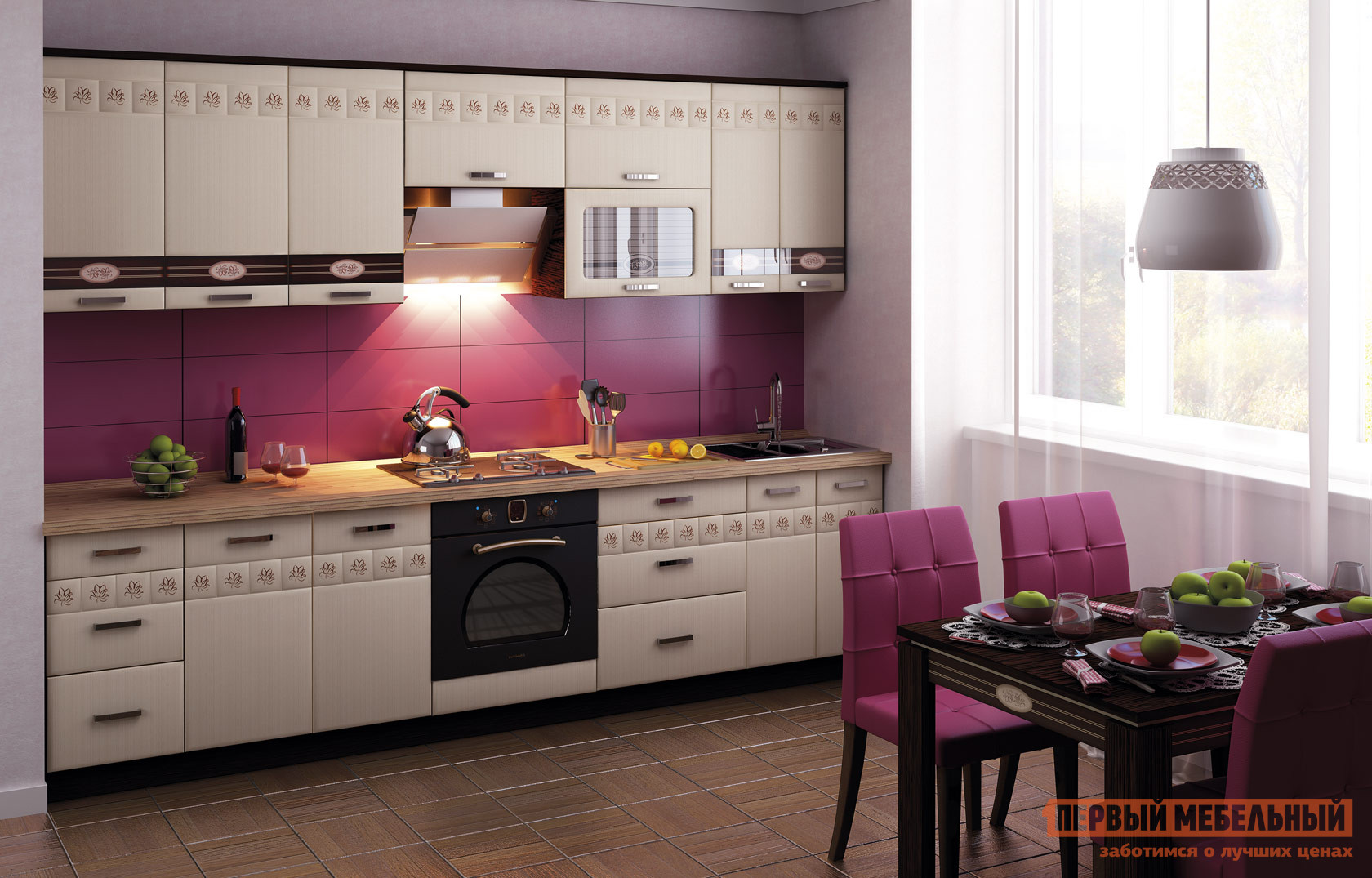 Кухонный гарнитур Витра Аврора 300-2 витра кухонный стол витра орфей 1 2 венге