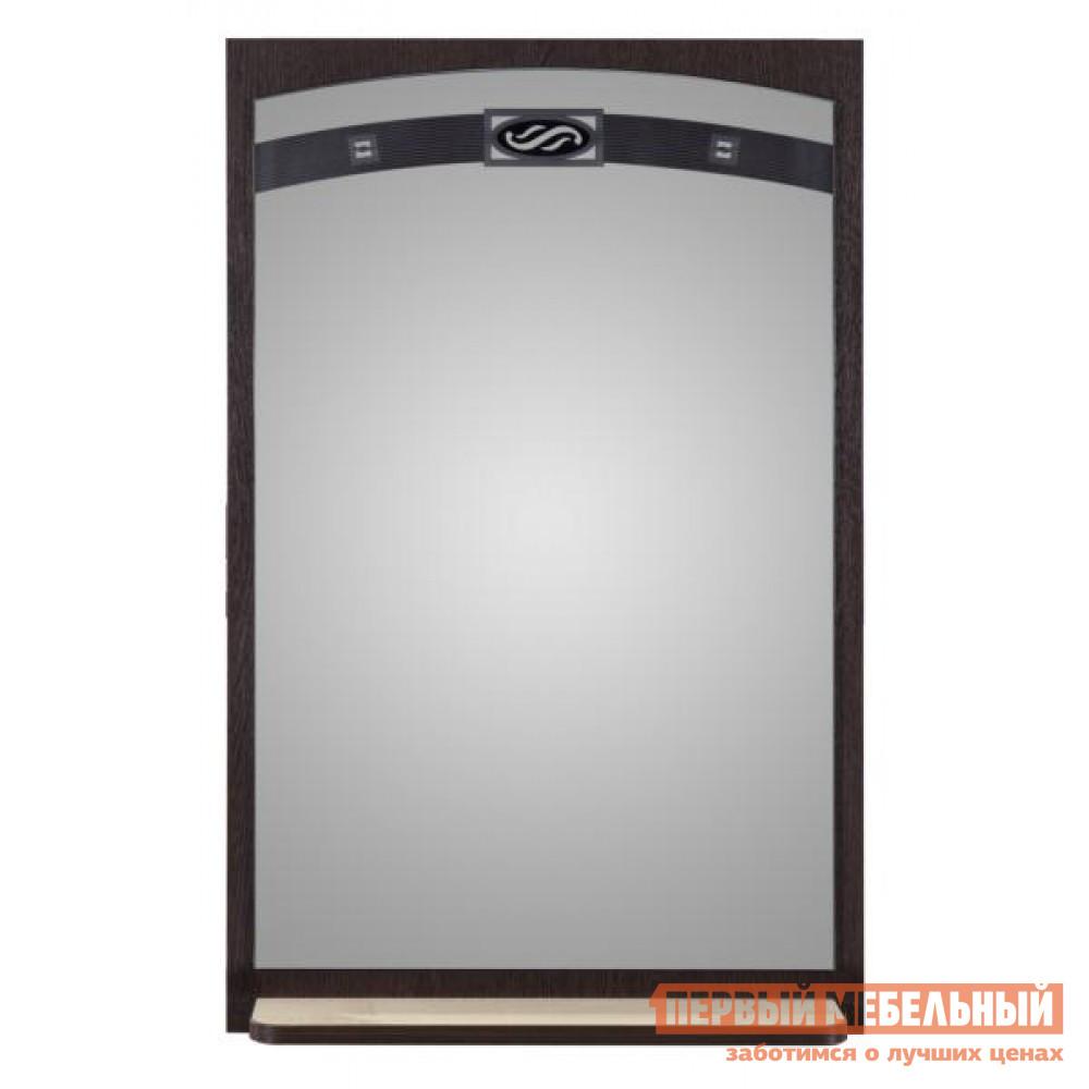 Настенное зеркало Витра Триумф-36.08 Венге / Бел дуб