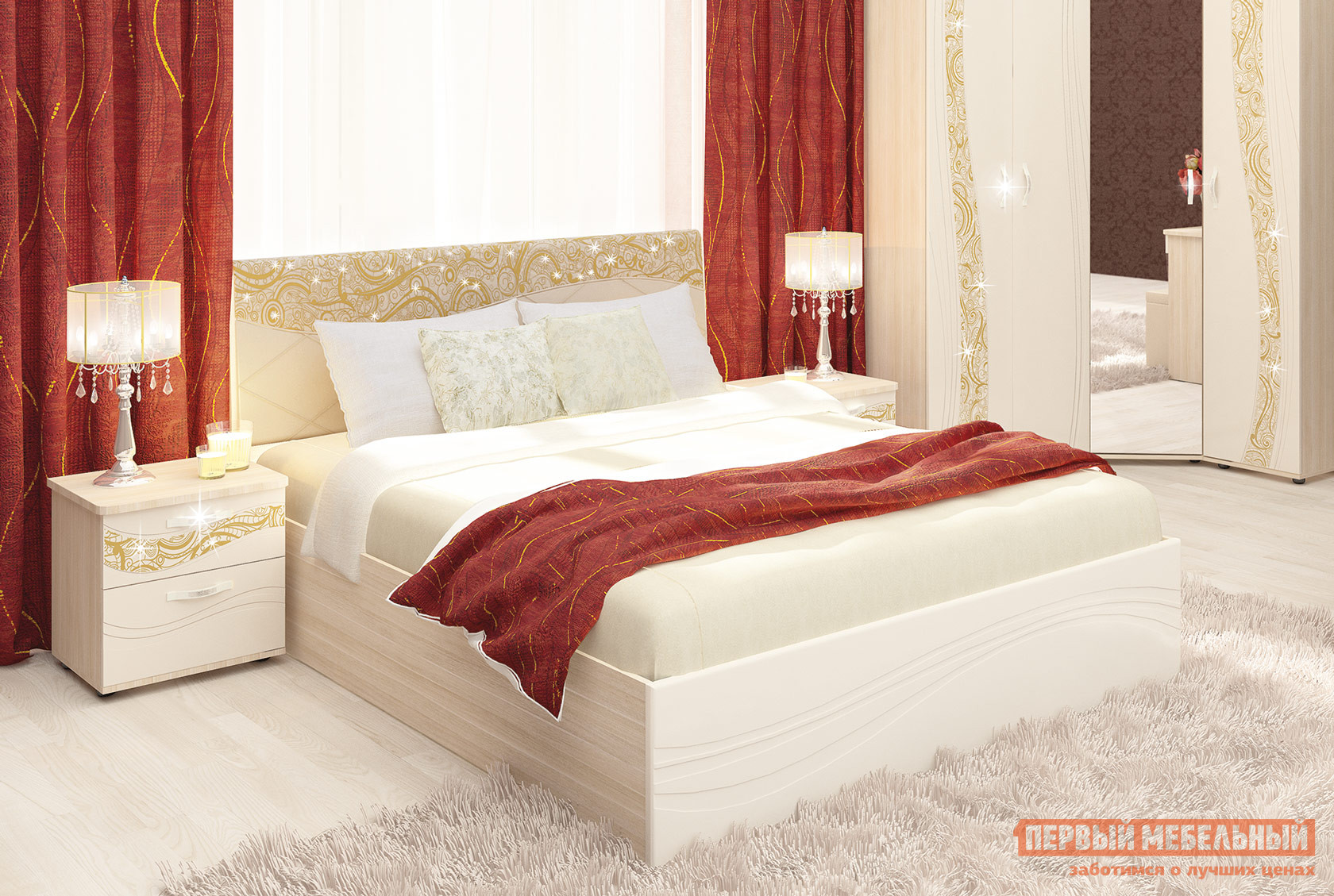 Двуспальная кровать Витра 98.21 двуспальная кровать витра 95 01 95 02 ок1 ок2