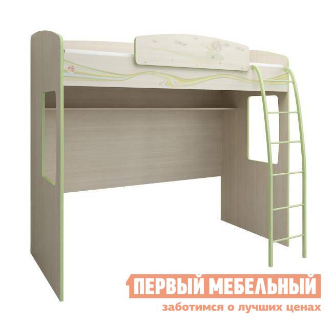 Деревянная кровать-чердак с игровой зоной Витра Акварель-53.12
