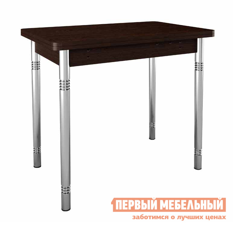 Кухонный стол Витра Орфей-8  ВенгеКухонные столы<br>Габаритные размеры ВхШхГ 750x500 / 1000x770 мм. Функциональный обеденный стол.  В собранным состоянии это компактный стол, в разобранном виде столешница увеличивается вдвое и превращается в большой стол для приема гостей.  Под столешницей располагается ниша, где можно хранить кухонные мелочи. Размер ниши составляет 390х340х140 ммСтол выполнен из ламинированной ДСП 16 мм, по периметру кант ПВХ 2 и 0,4 мм.  Обратите внимание! Для получения гарантийного обслуживания мебели фабрики «Витра» необходимо обязательно сохранять гарантийный талон и сборочный чертеж до окончания гарантийного срока на приобретенную мебель (срок указан в гарантийном талоне).<br><br>Цвет: Венге<br>Цвет: Венге<br>Высота мм: 750<br>Ширина мм: 500 / 1000<br>Глубина мм: 770<br>Кол-во упаковок: 1<br>Форма поставки: В разобранном виде<br>Срок гарантии: 5 лет<br>Тип: Раздвижные, Трансформер<br>Материал: Деревянные, из ЛДСП<br>Форма: Прямоугольные<br>Размер: Маленькие<br>Особенности: С металлическими ножками
