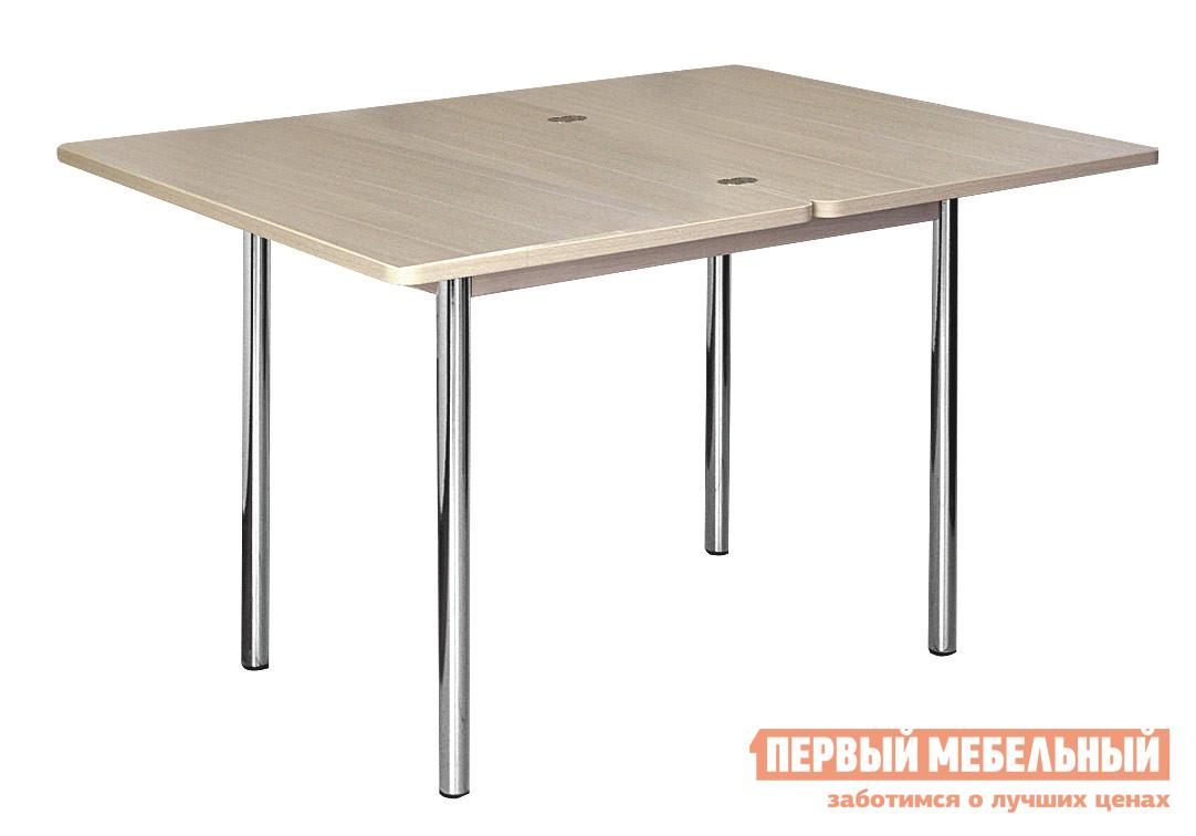 Кухонный стол Витра Орфей-1.2 Дуб КобургКухонные столы<br>Габаритные размеры ВхШхГ 750x900 / 1200x600 / 900 мм. Столешница изготовлена из ламинированной ЛДСП 16 мм, что придает столу солидный вид.  Закругленные углы столешницы удобны и безопасны в эксплуатации.  Под столешницей имеется достаточно вместительная ниша, которую можно использовать для хранения скатерти, салфеток и прочих необходимых вещей. Торцы деталей обработаны ударопрочной кромкой ПВХ толщиной 0,4; 2 мм. Прочные ножки изготовлены из металлической трубы диаметром 38 мм. Изделие поставляется в разобранном виде.  Хорошо упаковано в гофротару вместе с необходимой фурнитурой для сборки и подробной инструкцией. Обратите внимание! Для получения гарантийного обслуживания мебели фабрики «Витра» необходимо обязательно сохранять гарантийный талон и сборочный чертеж до окончания гарантийного срока на приобретенную мебель (срок указан в гарантийном талоне).<br><br>Цвет: Дуб Кобург<br>Цвет: Светлое дерево<br>Высота мм: 750<br>Ширина мм: 900 / 1200<br>Глубина мм: 600 / 900<br>Кол-во упаковок: 1<br>Форма поставки: В разобранном виде<br>Срок гарантии: 5 лет<br>Тип: Раскладные, Трансформер<br>Материал: Деревянные, из ЛДСП<br>Форма: Прямоугольные<br>Размер: Маленькие<br>Особенности: С металлическими ножками