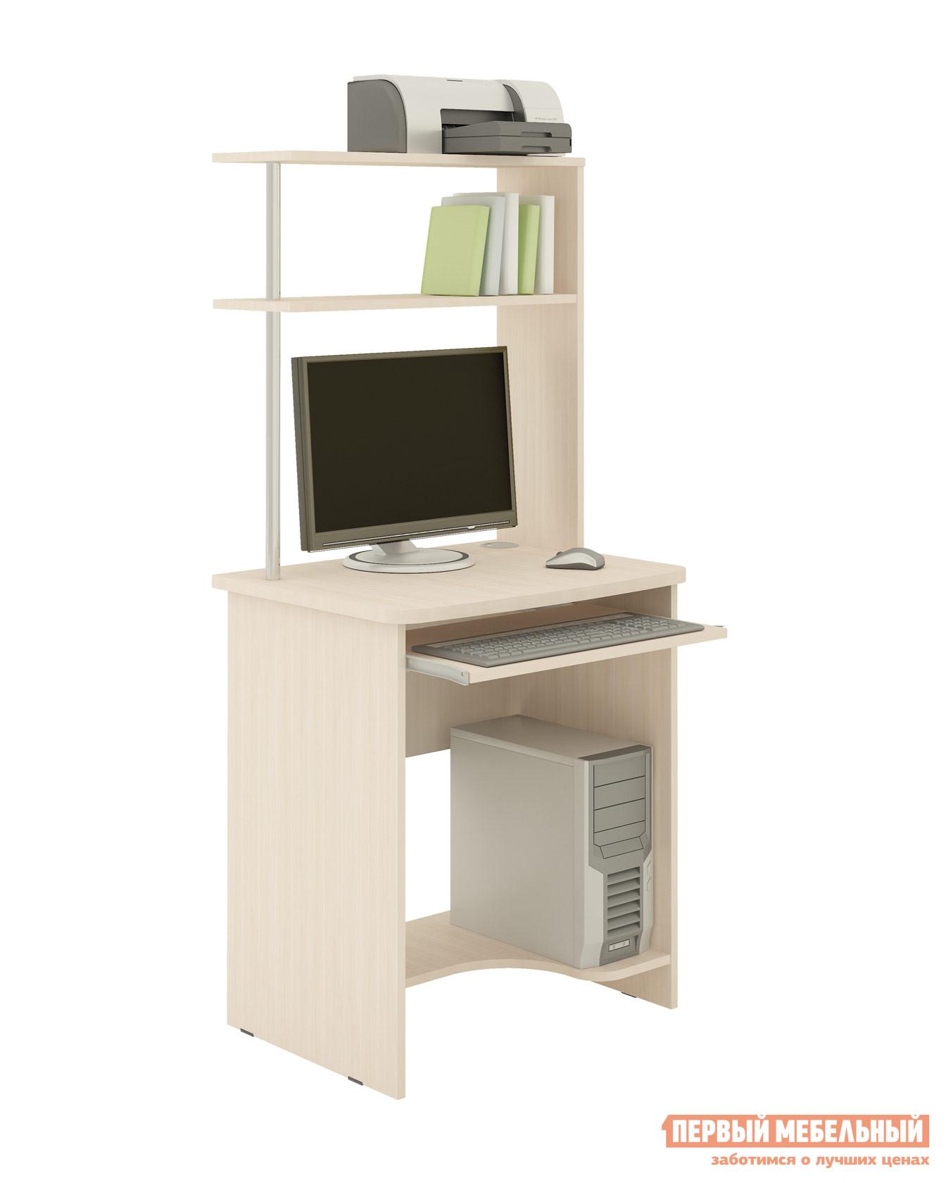 Компьютерный стол Витра Фортуна-25 Дуб КобургКомпьютерные столы<br>Габаритные размеры ВхШхГ 1500x680x530 мм. Стол оснащен выдвижной полкой для клавиатуры.  Столешница выполнена из ламинированной ДСП толщиной 22 мм.  Боковины изготовлены из ламинированной ДСП толщиной 16 мм.   Кромка деталей обработана ударопрочным кантом ПВХ толщиной 0,42мм. Стол оптимален для монитора диагональю 22. Высота между верхними полками составляет 235 мм, глубина этих полок — 230 мм. Изделие поставляется в разобранном виде.  Хорошо упаковано в гофротару вместе с необходимой фурнитурой для сборки и подробной инструкцией. Обратите внимание! Для получения гарантийного обслуживания мебели фабрики «Витра» необходимо обязательно сохранять гарантийный талон и сборочный чертеж до окончания гарантийного срока на приобретенную мебель (срок указан в гарантийном талоне).<br><br>Цвет: Дуб Кобург<br>Цвет: Светлое дерево<br>Высота мм: 1500<br>Ширина мм: 680<br>Глубина мм: 530<br>Кол-во упаковок: 1<br>Форма поставки: В разобранном виде<br>Срок гарантии: 5 лет<br>Тип: Прямые<br>Материал: Деревянные, из ЛДСП<br>Размер: Маленькие<br>Особенности: С надстройкой, С полками