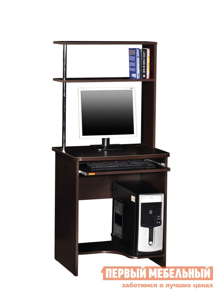 Компьютерный стол Витра Фортуна-25 ВенгеКомпьютерные столы<br>Габаритные размеры ВхШхГ 1500x680x530 мм. Стол оснащен выдвижной полкой для клавиатуры.  Столешница выполнена из ламинированной ДСП толщиной 22 мм.  Боковины изготовлены из ламинированной ДСП толщиной 16 мм.   Кромка деталей обработана ударопрочным кантом ПВХ толщиной 0,42мм. Стол оптимален для монитора диагональю 22. Изделие поставляется в разобранном виде.  Хорошо упаковано в гофротару вместе с необходимой фурнитурой для сборки и подробной инструкцией. Обратите внимание! Для получения гарантийного обслуживания мебели фабрики «Витра» необходимо обязательно сохранять гарантийный талон и сборочный чертеж до окончания гарантийного срока на приобретенную мебель (срок указан в гарантийном талоне).<br><br>Цвет: Венге<br>Цвет: Венге<br>Высота мм: 1500<br>Ширина мм: 680<br>Глубина мм: 530<br>Кол-во упаковок: 1<br>Форма поставки: В разобранном виде<br>Срок гарантии: 5 лет<br>Тип: Прямые<br>Материал: Деревянные, из ЛДСП<br>Размер: Маленькие<br>Особенности: С надстройкой, С полками