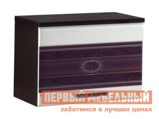 Кухонный модуль 08.14 Венге / МДФ крем / МДФ баклажан фото