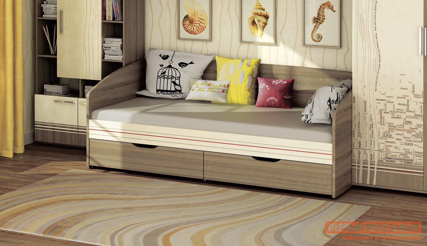 Детская кровать-тахта с ящиками для белья Витра 54.11 стол с ящиками витра 19 71
