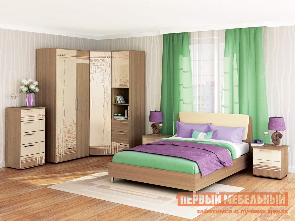 Комплект мебели для спальни Витра Бриз К14