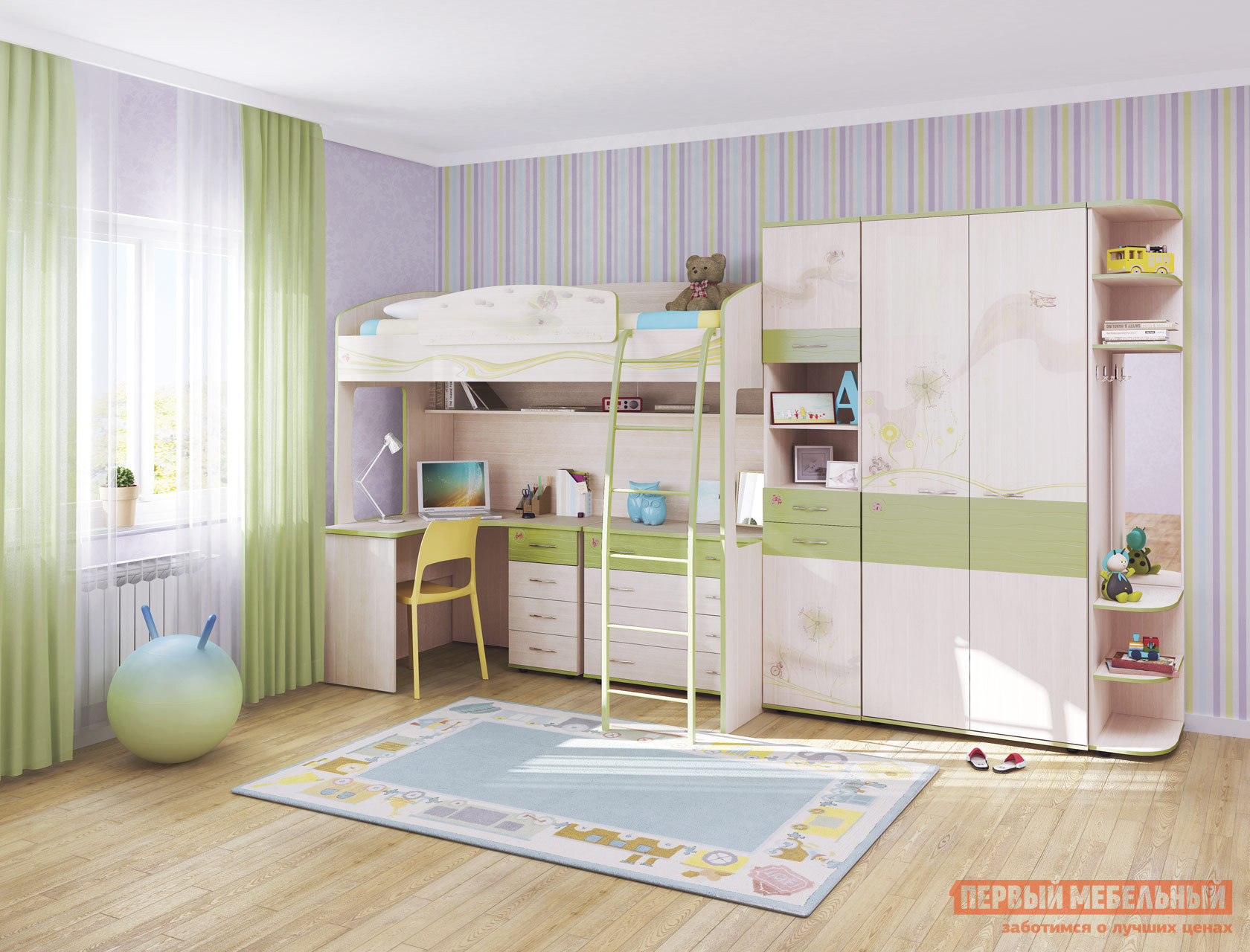 Комплект детской мебели Витра Акварель К2 комплект детской мебели витра бриз к2
