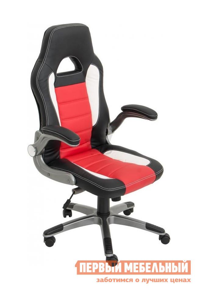 Компьютерное кресло NOWYSTYL RACER ECO-30 / ECO-90 / ECO-50Игровые кресла<br>Габаритные размеры ВхШхГ 1160 / 1260x510x490 мм. Современное и комфортное кресло в стильном дизайне.  Модель оснащена механизмом качания.  Механизм обеспечивает свободное качание с возможностью фиксации сидения и спинки в одном положении.  Подлокотники имеют мягкие накладки, а также откидываются назад.  Колесики пластиковые с резиновым покрытием. Высота в нижнем положении — 1160 мм;Высота в верхнем положении — 1260 мм;Высота сидения в поднятом положении — 525 мм;Высота сидения в опущенном положен — 425 мм;Диаметр крестовины — 700 мм. Обивка выполнена из качественной эко-кожи.  Она скроена из трех разных цветовых вариантов, гармонично сочетающихся между собой.  Обивка украшена декоративной строчкой белого цвета.<br><br>Цвет: ECO-30 / ECO-90 / ECO-50<br>Цвет: Красный<br>Высота мм: 1160 / 1260<br>Ширина мм: 510<br>Глубина мм: 490<br>Кол-во упаковок: 1<br>Форма поставки: В разобранном виде<br>Срок гарантии: 1 год<br>Тип: До 80 кг, До 100 кг, До 120 кг<br>Материал: из искусственной кожи<br>Особенности: С подлокотниками, С пластиковой крестовиной