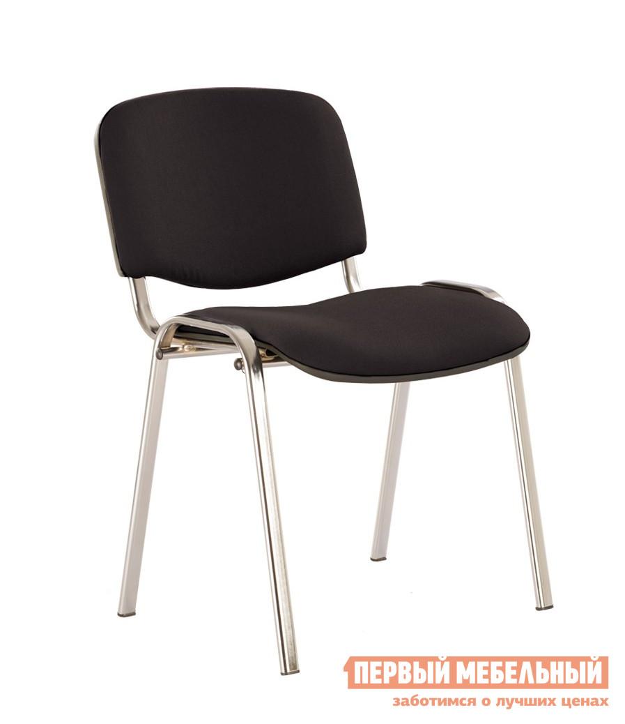 Офисный стул NOWYSTYL ISO-24 CHROME RU Черная С-11 тканьОфисные стулья<br>Габаритные размеры ВхШхГ 805x470x410 мм. Вам наверняка доводилось сидеть в таком стуле, это самая распространенная и известная модель.  Стулья подходят и для переговорных, и для актовых залов, и для залов ожидания.  Испытанная временем модель остается неизменной и любимой. Хромированные ножки отличают стул от аналогов с черными ножками. Стулья удобно хранить способом штабелирования по четырнадцать штук.  На ножках есть пластиковые заглушки, которые предохраняют пол от повреждений. Максимальная нагрузка на стул составляет 100 кг.<br><br>Цвет: Черный<br>Высота мм: 805<br>Ширина мм: 470<br>Глубина мм: 410<br>Кол-во упаковок: 1<br>Форма поставки: В собранном виде<br>Срок гарантии: 1 год<br>Тип: До 80 кг<br>Тип: До 100 кг<br>Тип: Со спинкой<br>Назначение: Для дома<br>Назначение: Для посетителей<br>Материал: Ткань<br>Материал: Искусственная кожа<br>Размер: Маленькие<br>Без колесиков: Да<br>С мягким сиденьем: Да<br>Без подлокотников: Да<br>С низкой спинкой: Да<br>Модель: Изо