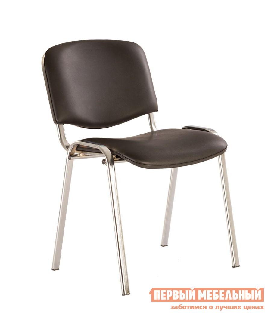 Офисный стул NOWYSTYL ISO-24 CHROME RU Черная V-14 иск.кожа (гладкая)Офисные стулья<br>Габаритные размеры ВхШхГ 805x470x410 мм. Вам наверняка доводилось сидеть в таком стуле, это самая распространенная и известная модель.  Стулья подходят и для переговорных, и для актовых залов, и для залов ожидания.  Испытанная временем модель остается неизменной и любимой. Хромированные ножки отличают стул от аналогов с черными ножками. Стулья удобно хранить способом штабелирования по четырнадцать штук.  На ножках есть пластиковые заглушки, которые предохраняют пол от повреждений. Максимальная нагрузка на стул составляет 100 кг.<br><br>Цвет: Черный<br>Высота мм: 805<br>Ширина мм: 470<br>Глубина мм: 410<br>Кол-во упаковок: 1<br>Форма поставки: В собранном виде<br>Срок гарантии: 1 год<br>Тип: До 80 кг<br>Тип: До 100 кг<br>Тип: Со спинкой<br>Назначение: Для дома<br>Назначение: Для посетителей<br>Материал: Ткань<br>Материал: Искусственная кожа<br>Размер: Маленькие<br>Без колесиков: Да<br>С мягким сиденьем: Да<br>Без подлокотников: Да<br>С низкой спинкой: Да<br>Модель: Изо