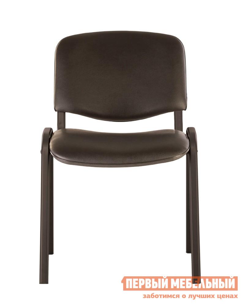 Фото Офисный стул NOWYSTYL ISO-24 BLACK RU Черная V-14 иск.кожа (гладкая). Купить с доставкой