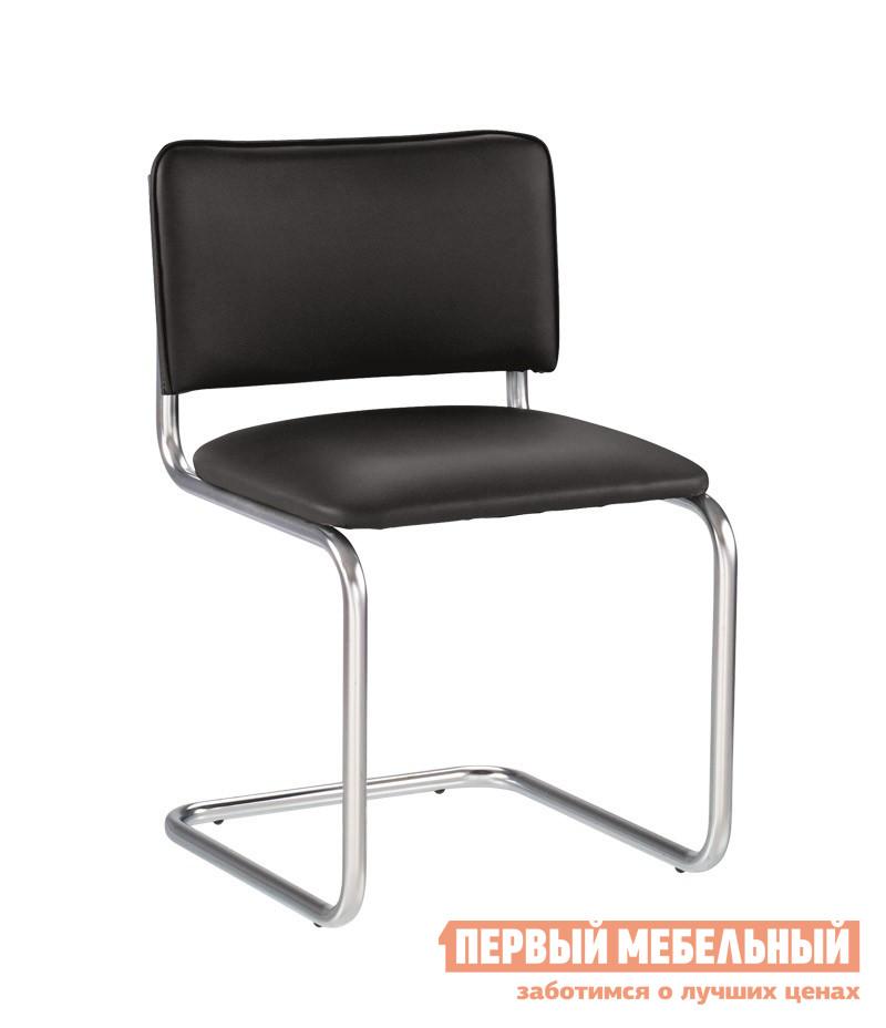 Офисный стул NOWYSTYL SYLWIA RU (BOX-4) Черная V-4 иск.кожа (с фактурой кожи)Офисные стулья<br>Габаритные размеры ВхШхГ 900x460x430 мм. Офисный стул идеально подходит для меблировки переговорных или зоны ожидания.  Изящный изгиб придает креслу изысканности и презентабельности. Хромированный металлический каркас обеспечивает долгий срок службы изделию.  Благодаря мягкому сиденью и спинке в кресле комфортно и удобно.  Изделие установлено на небольшие подпятники.  Максимальная нагрузка на стул составляет 100 кг. Обратите внимание! Стулья продаются только по 4 штуки.<br><br>Цвет: Черный<br>Высота мм: 900<br>Ширина мм: 460<br>Глубина мм: 430<br>Кол-во упаковок: 1<br>Форма поставки: В собранном виде<br>Срок гарантии: 1 год<br>Тип: До 80 кг<br>Тип: До 100 кг<br>Тип: Со спинкой<br>Назначение: Для дома<br>Назначение: Для посетителей<br>Материал: Искусственная кожа<br>Размер: Маленькие<br>Без колесиков: Да<br>С мягким сиденьем: Да<br>Без подлокотников: Да<br>На полозьях: Да<br>С низкой спинкой: Да