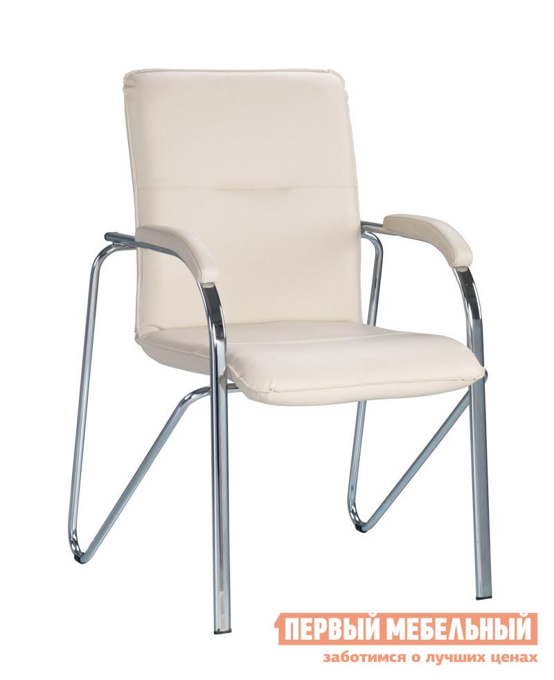 Офисный стул NOWYSTYL SAMBA soft (S) Бежевая V-18 иск.кожаОфисные стулья<br>Габаритные размеры ВхШхГ 900x460x430 мм. Стильная и современная модель кресла для посетителей.  Отличный вариант для меблировки приемной, конференц-зала или офиса.  Мягкие спинка и сиденье обеспечат комфорт.  На подлокотниках есть небольшие накладки для комфортного положения рук. Особенность модели — оригинально согнутый каркас, который позволяет штабилировать четыре таких стула друга на друга, освобождая пространство. Кресло поставляется в собранном виде. Каркас и ножки выполняются из хромированного металла, обивка — искусственная кожа. Обратите внимание! Стулья поставляются комплектом по 2 штуки.  Цена указана за один стул.<br><br>Цвет: Бежевая V-18 иск.кожа<br>Цвет: Бежевый<br>Высота мм: 900<br>Ширина мм: 460<br>Глубина мм: 430<br>Кол-во упаковок: 1<br>Форма поставки: В собранном виде<br>Срок гарантии: 1 год<br>Тип: До 80 кг, До 100 кг<br>Материал: из искусственной кожи<br>Особенности: С подлокотниками