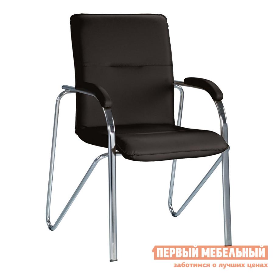 Офисный стул  SAMBA soft (S) Черная V-4 иск.кожа (с фактурой кожи)