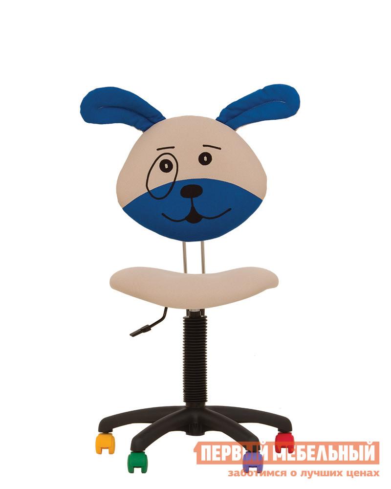Компьютерное кресло NOWYSTYL DOG GTS PL55 MICROSOLCO Сине-бежевыйКомпьютерные кресла детские<br>Габаритные размеры ВхШхГ 750 / 980x450x330 мм. Детское компьютерное кресло со спинкой в виде мордашки очаровательного щенка.  На таком кресле точно будет нескучно готовить домашнее задание и играть. Мягкое сиденье регулируется по высоте и глубине при помощи винтовой рукоятки.  Высота стула (со спинкой) при этом изменяется от 750 до 980 мм. Крестовина выполнена из пластика и дополнена разноцветными колесиками.  Обивка спинки и сиденья — практичный полиэстр. Максимальная нагрузка на кресло составляет 100 кг.<br><br>Цвет: Синий<br>Цвет: Бежевый<br>Высота мм: 750 / 980<br>Ширина мм: 450<br>Глубина мм: 330<br>Кол-во упаковок: 1<br>Форма поставки: В разобранном виде<br>Срок гарантии: 1 год<br>Тип: До 80 кг<br>Тип: До 100 кг<br>Тип: До 90 кг<br>Тип: Регулируемые по высоте<br>Назначение: Для дома<br>Назначение: Для школьников<br>Материал: Ткань<br>Размер: Маленькие<br>Эргономичные: Да<br>На колесиках: Да<br>Пластиковая крестовина: Да<br>Без подлокотников: Да<br>С низкой спинкой: Да<br>Пол: Для девочек<br>Пол: Для мальчиков