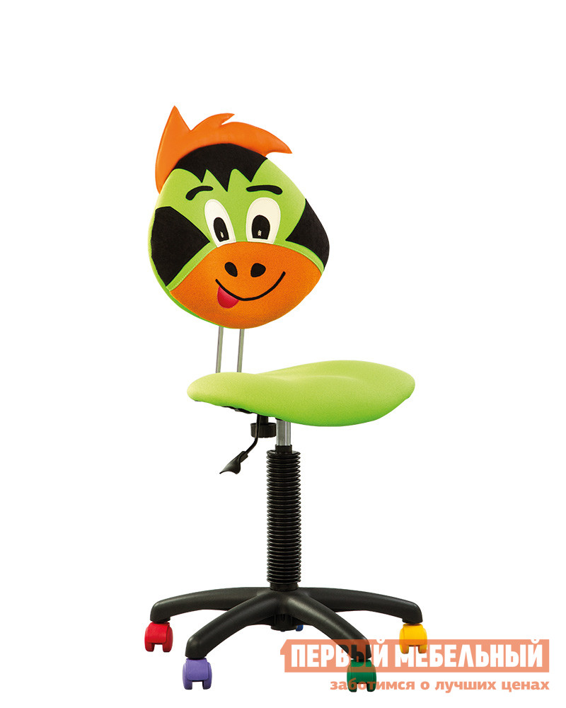 Компьютерное кресло NOWYSTYL DRAKON GTS PL55 MICROSOLCO ЗеленыйКомпьютерные кресла детские<br>Габаритные размеры ВхШхГ 750 / 980x450x330 мм. Детское компьютерное кресло со спинкой в виде мордочки веселого дракона с яркой прической.  На таком кресле точно будет нескучно готовить домашнее задание и играть. Мягкое сиденье регулируется по высоте и глубине при помощи винтовой рукоятки.  Высота стула (со спинкой) при этом изменяется от 750 до 980 мм. Крестовина выполнена из пластика и дополнена разноцветными колесиками.  Обивка спинки и сиденья — практичный полиэстр. Максимальная нагрузка на кресло составляет 100 кг.<br><br>Цвет: Зеленый<br>Высота мм: 750 / 980<br>Ширина мм: 450<br>Глубина мм: 330<br>Кол-во упаковок: 1<br>Форма поставки: В разобранном виде<br>Срок гарантии: 1 год<br>Тип: До 80 кг<br>Тип: До 100 кг<br>Тип: До 90 кг<br>Тип: Регулируемые по высоте<br>Назначение: Для дома<br>Назначение: Для школьников<br>Материал: Ткань<br>Размер: Маленькие<br>Эргономичные: Да<br>На колесиках: Да<br>Пластиковая крестовина: Да<br>Без подлокотников: Да<br>С низкой спинкой: Да<br>Пол: Для девочек<br>Пол: Для мальчиков