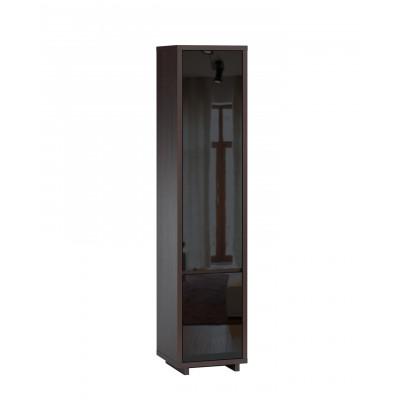 Шкаф распашной WOODCRAFT Аспен Шкаф-пенал (2 двери) Дуб Феррара / Черный глянец