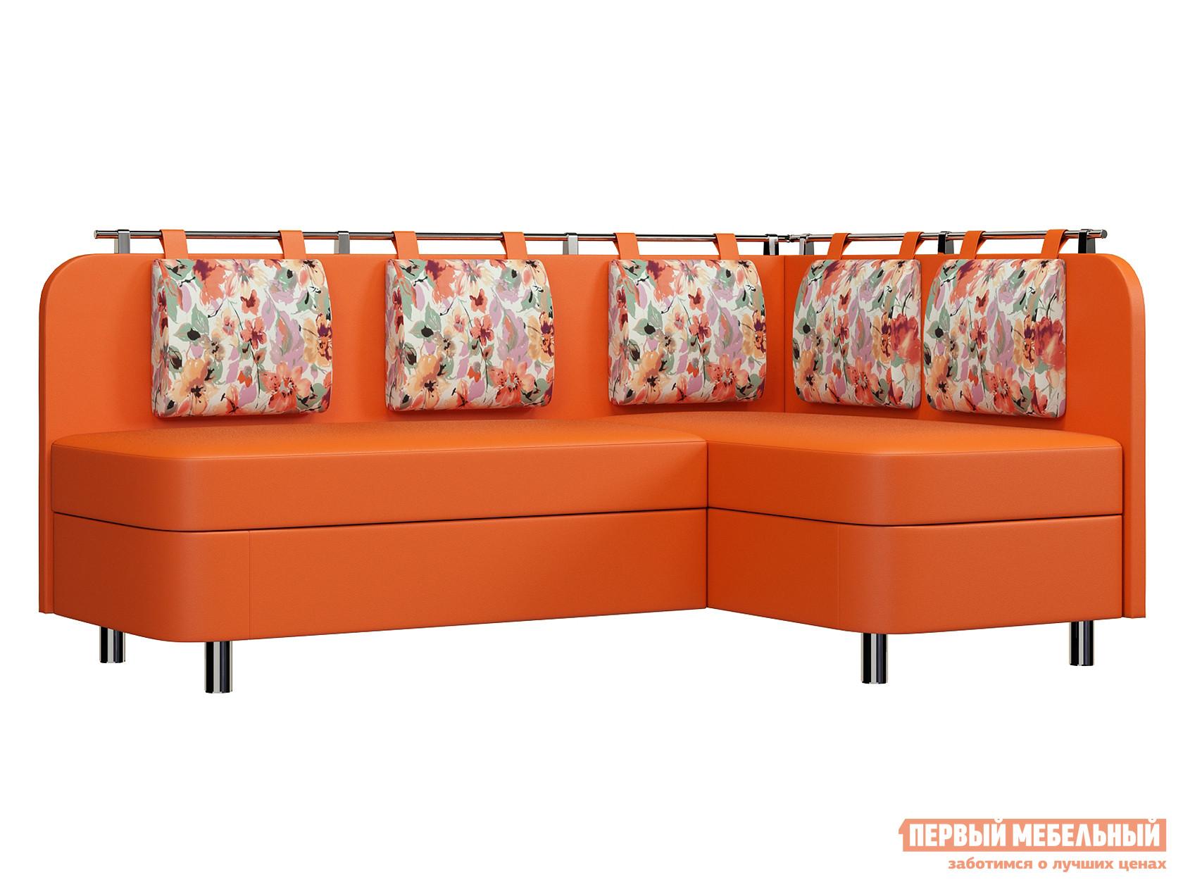 Кухонный уголок  Лагуна М1 Оранжевый кожзам / Akvarel 03