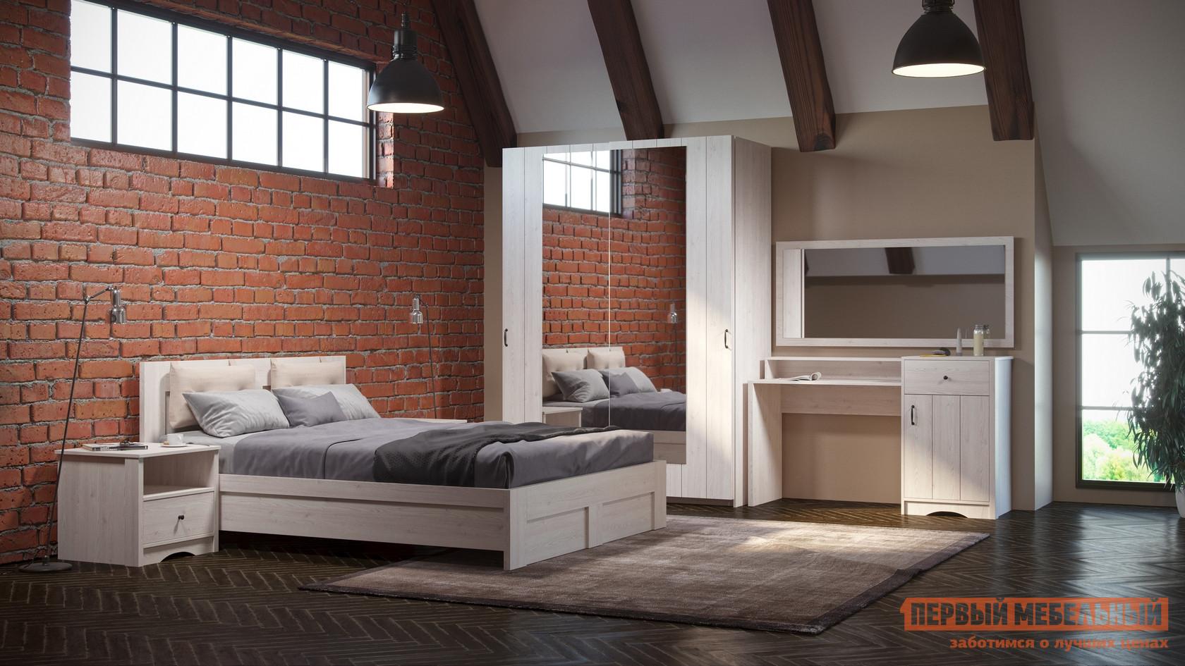 Спальный гарнитур WOODCRAFT Лофт С Белая лиственница