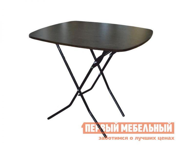 Кухонный стол Амис Пикник Складной Дуб венге 138, Каркас черный глянец, Размер столешницы 900 Х 800