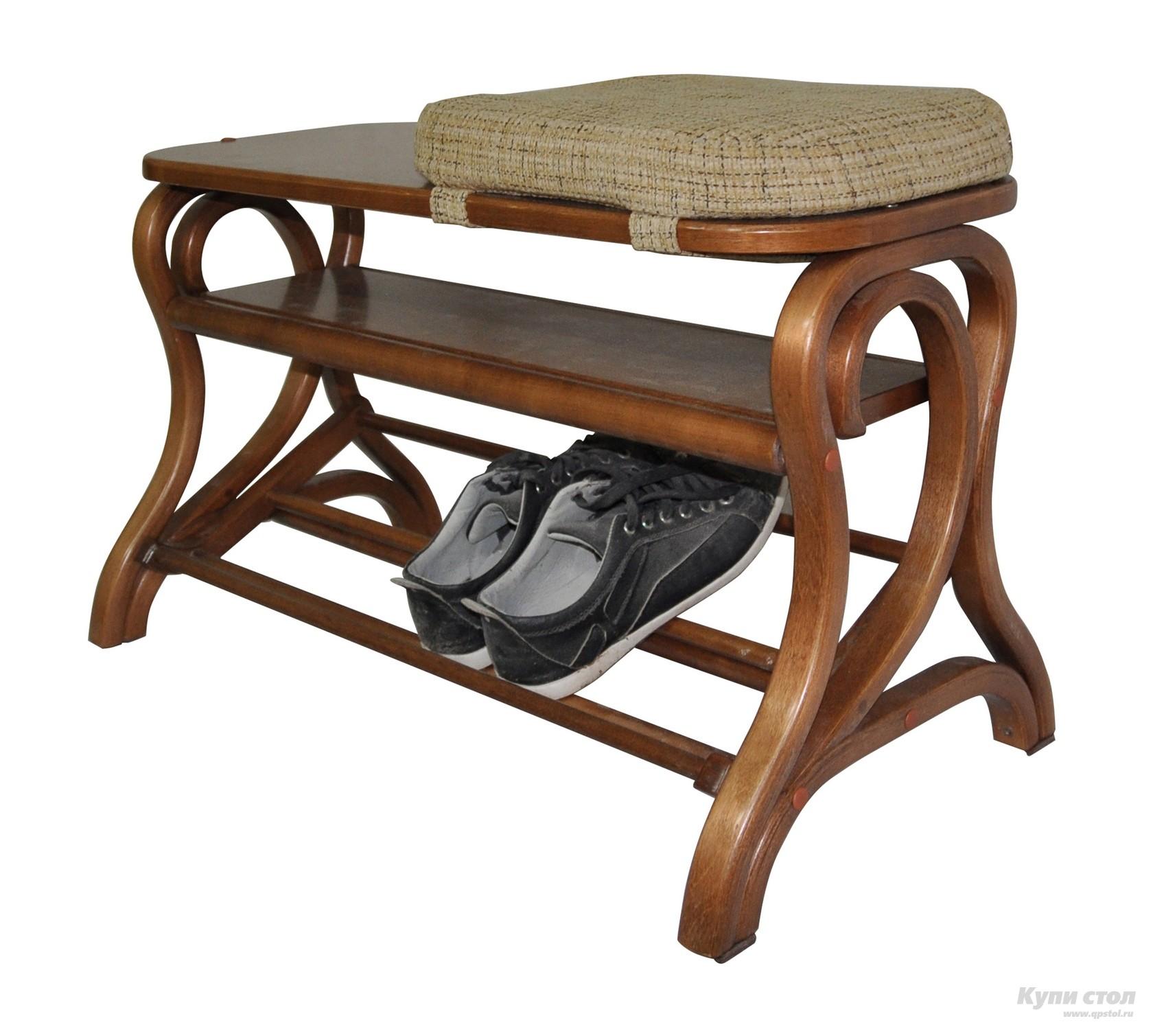 Обувница Мебелик Подставка под обувь Диана Средне-коричневый от Купистол