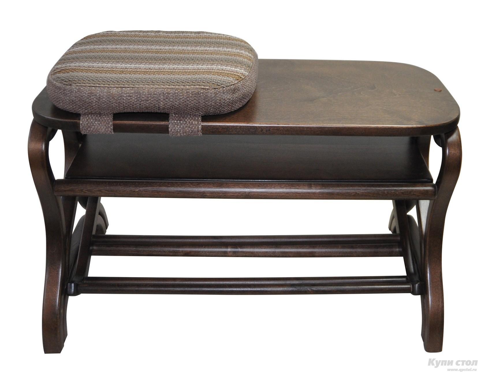 Обувница Мебелик Подставка под обувь Диана Темно-коричневый от Купистол