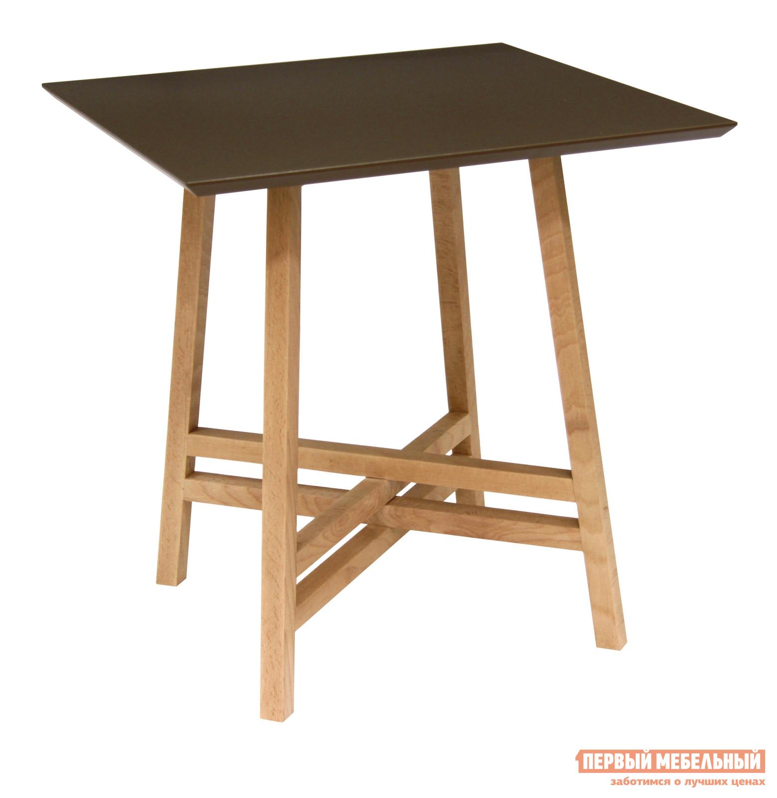 Журнальный столик Мебелик Рилле 441 Бук / Темный кофе