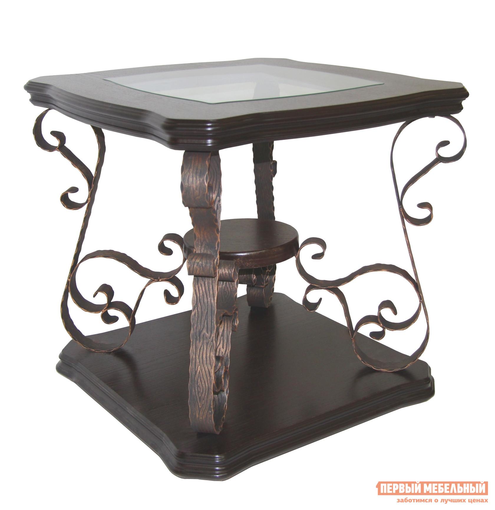 Кованый журнальный столик Мебелик Лючия 2102