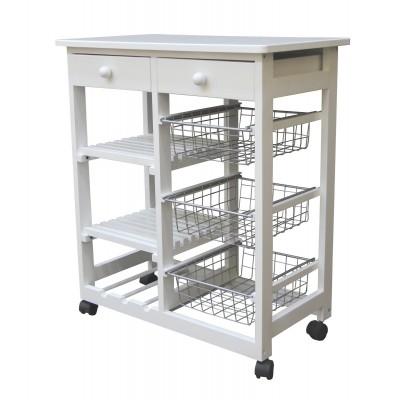 Сервировочный столик Мебелик В 41Н Белая эмаль