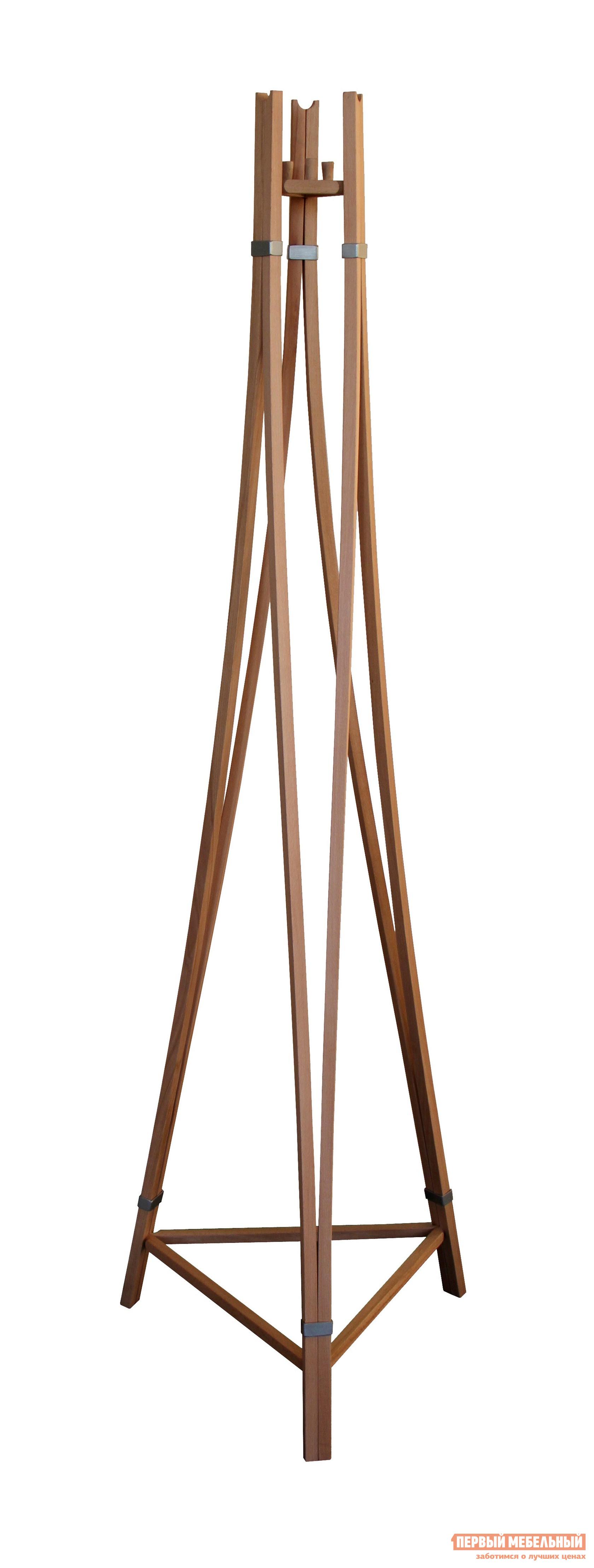 Напольная вешалка Мебелик Рилле 403 БукНапольные вешалки<br>Габаритные размеры ВхШхГ 1780x530x470 мм. Оригинальная напольная вешалка-тренога для верхней одежды.  Модель выполнена в дизайне переплетенных деревянных прутьев.  Несмотря на хрупкость конструкции, вешалка надежна.  Нижняя часть соединена планками, которые обеспечивают устойчивость вешалки. Модель имеет шесть крючков. Изделие выполнено из натурального бука.<br><br>Цвет: Бук<br>Цвет: Светлое дерево<br>Высота мм: 1780<br>Ширина мм: 530<br>Глубина мм: 470<br>Форма поставки: В разобранном виде<br>Срок гарантии: 24 месяца<br>Материал: Деревянные, Из натурального дерева<br>Порода дерева: из бука