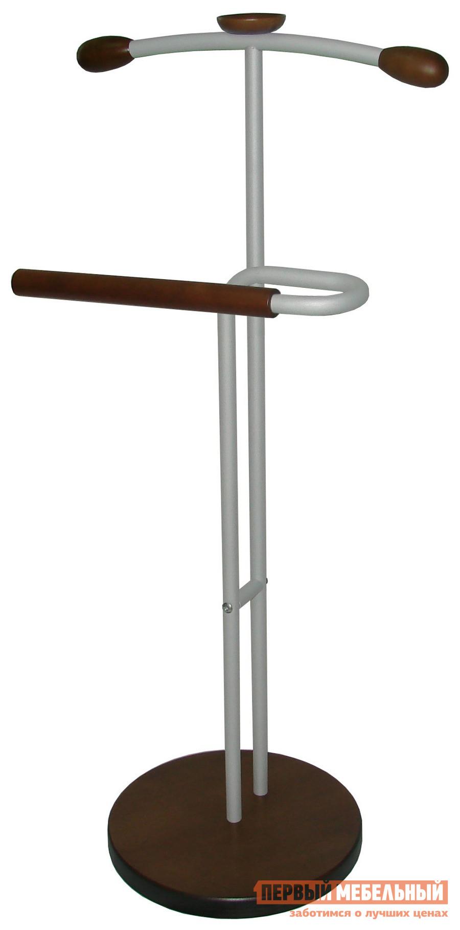 мебелик костюмная вешалка галант 332 алюминий средне коричневый Костюмная вешалка Мебелик Галант 336