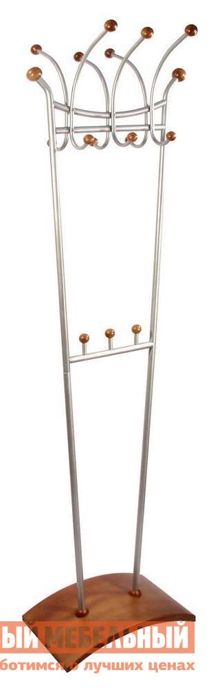 Напольная вешалка Мебелик Д-6 Металлик/Среднекоричневый